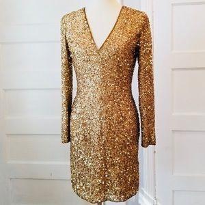 Hugo Buscati silk sequin dress size 2